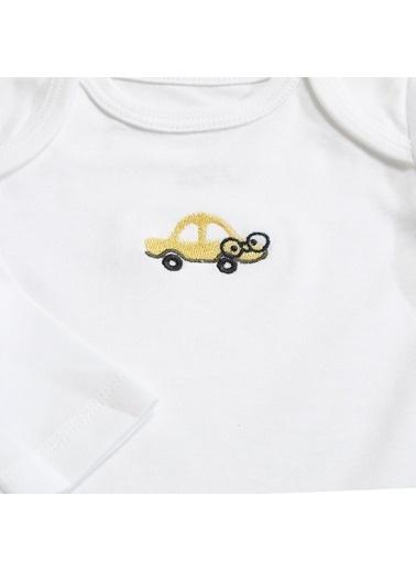 Chakra Car Uzun Kollu 2li Body Set Beyaz Beyaz